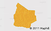 Political 3D Map of Kantchari, single color outside