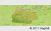 Satellite Panoramic Map of Kantchari, physical outside