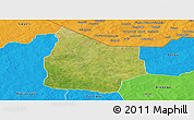 Satellite Panoramic Map of Kantchari, political outside