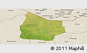 Satellite Panoramic Map of Kantchari, shaded relief outside