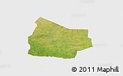 Satellite Panoramic Map of Kantchari, single color outside