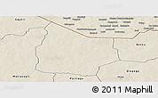 Shaded Relief Panoramic Map of Kantchari