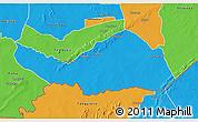 Political 3D Map of Logobou
