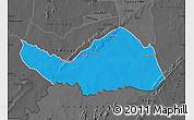 Political Map of Logobou, darken, desaturated