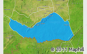 Political Map of Logobou, satellite outside