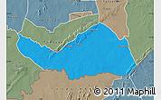 Political Map of Logobou, semi-desaturated