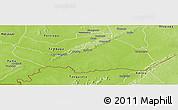 Physical Panoramic Map of Logobou
