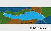 Political Panoramic Map of Logobou, darken