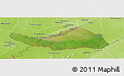 Satellite Panoramic Map of Logobou, physical outside