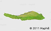 Satellite Panoramic Map of Logobou, single color outside