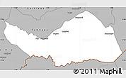Gray Simple Map of Logobou