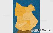 Political Shades Map of Tapoa, darken