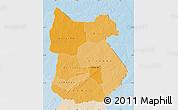 Political Shades Map of Tapoa, lighten