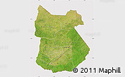 Satellite Map of Tapoa, cropped outside