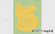 Savanna Style Map of Tapoa, single color outside