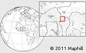 Blank Location Map of Namounou
