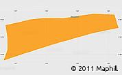Political Simple Map of Namounou, single color outside