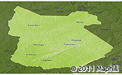 Physical Panoramic Map of Tapoa, darken