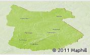 Physical Panoramic Map of Tapoa, lighten