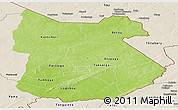 Physical Panoramic Map of Tapoa, shaded relief outside