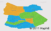 Political Panoramic Map of Tapoa, cropped outside