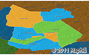 Political Panoramic Map of Tapoa, darken