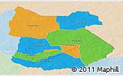 Political Panoramic Map of Tapoa, lighten