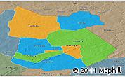 Political Panoramic Map of Tapoa, semi-desaturated