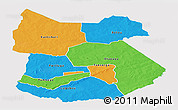 Political Panoramic Map of Tapoa, single color outside