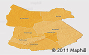 Political Shades Panoramic Map of Tapoa, cropped outside