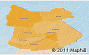 Political Shades Panoramic Map of Tapoa, lighten