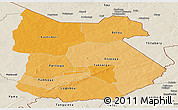 Political Shades Panoramic Map of Tapoa, shaded relief outside