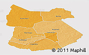 Political Shades Panoramic Map of Tapoa, single color outside