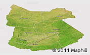 Satellite Panoramic Map of Tapoa, cropped outside