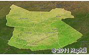 Satellite Panoramic Map of Tapoa, darken