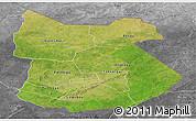Satellite Panoramic Map of Tapoa, desaturated