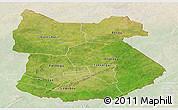 Satellite Panoramic Map of Tapoa, lighten