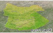Satellite Panoramic Map of Tapoa, semi-desaturated
