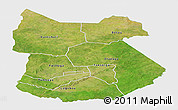 Satellite Panoramic Map of Tapoa, single color outside