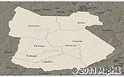Shaded Relief Panoramic Map of Tapoa, darken