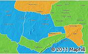 Political 3D Map of Partiaga