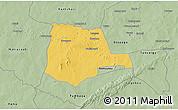 Savanna Style 3D Map of Partiaga