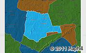 Political Map of Partiaga, darken
