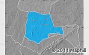 Political Map of Partiaga, desaturated
