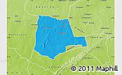 Political Map of Partiaga, physical outside