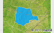 Political Map of Partiaga, satellite outside