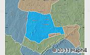 Political Map of Partiaga, semi-desaturated