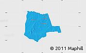 Political Map of Partiaga, single color outside