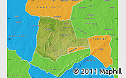 Satellite Map of Partiaga, political outside