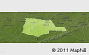 Physical Panoramic Map of Partiaga, darken